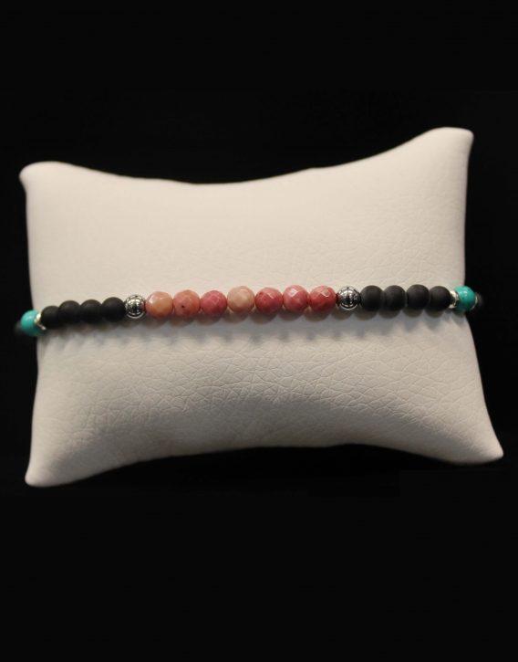 lava and rhodonite bracelet