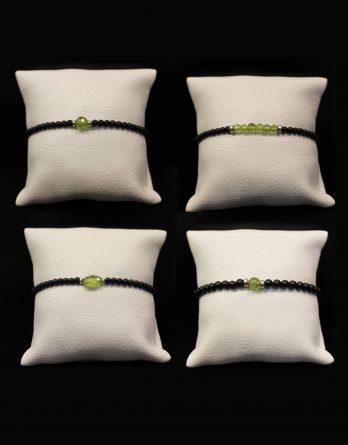 lava and olivine elastic bracelets