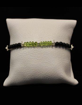 lava, olivine and star beads bracelet