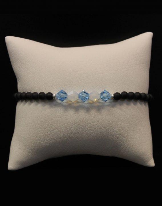 light blue and white crystals bracelet