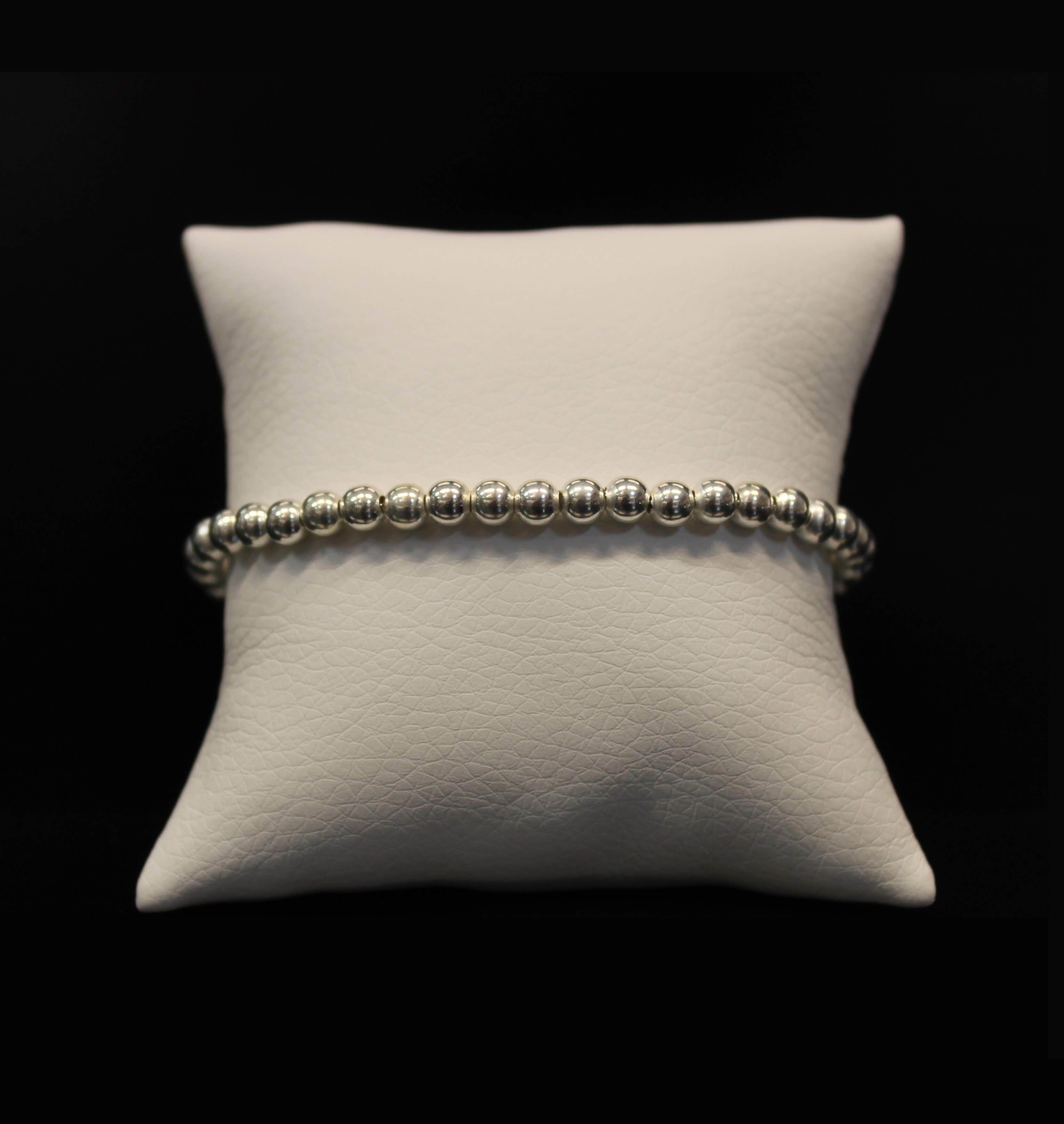 Sterling Silver Beads Bracelet Prev
