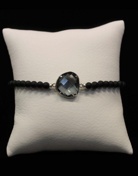grey crystal bracelet
