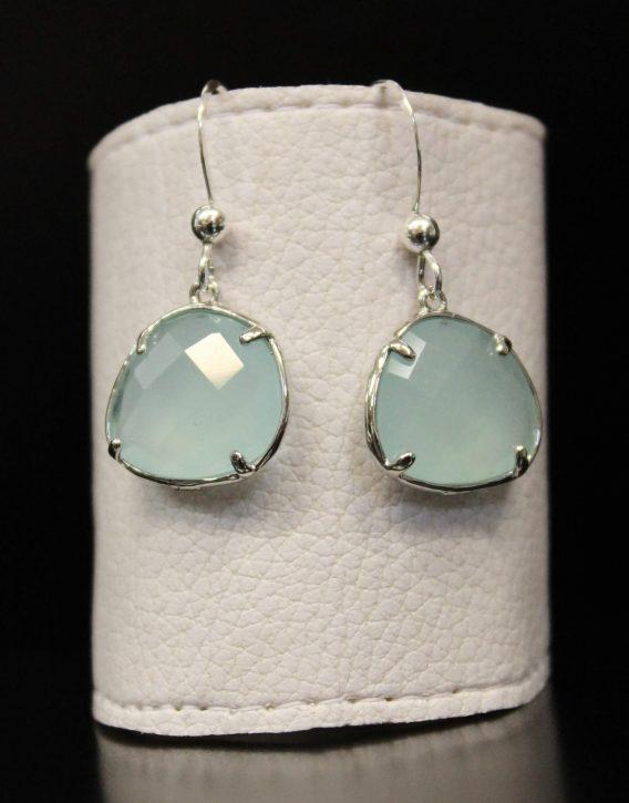 turquoise crystal earrings