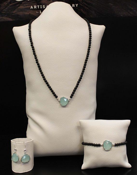 turquoise crystal set