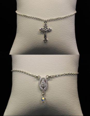 virgin and christian cross bracelets