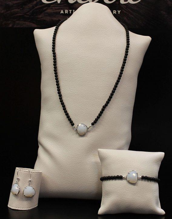 white crystal set
