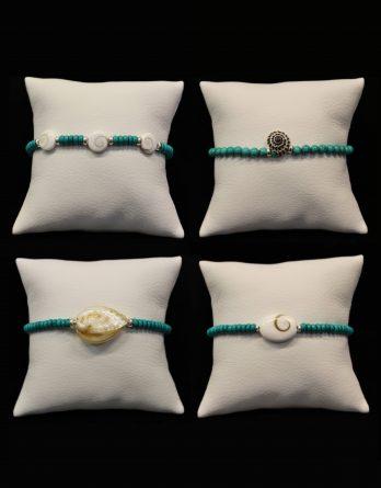 seashell turquoise bracelets
